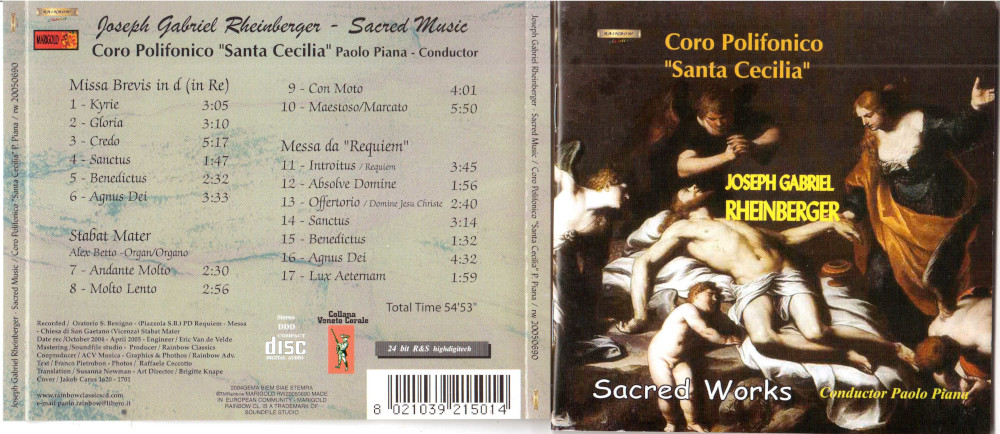 2005 Sacred Works J.G. Rheinberger