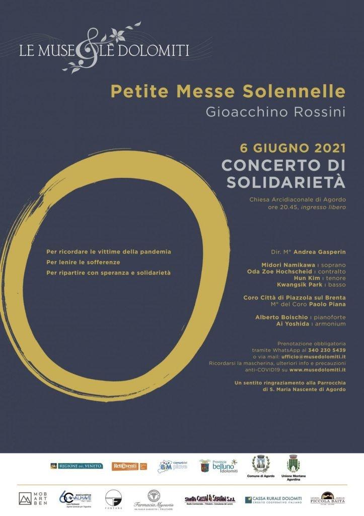 Locandina concerto di solidarietà