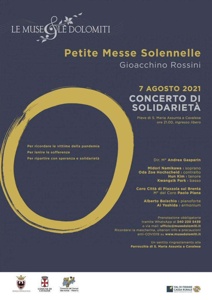 Concerto di solidarietà 7 agosto